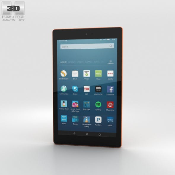 Amazon Fire HD 8 Tangerine