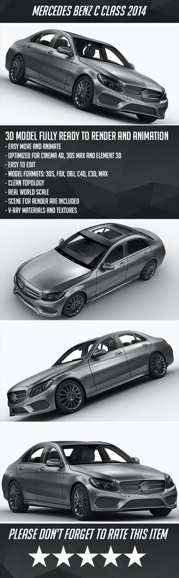 Mercedes Benz C Class 2014 - 3DOcean Item for Sale