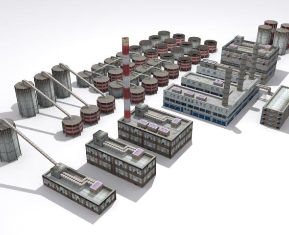 Refinery Set - 3DOcean Item for Sale