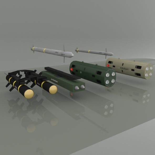 Cirit and  Umtas Missile - 3DOcean Item for Sale