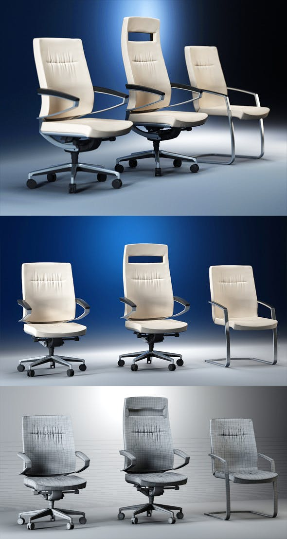 Quality 3dmodel of modern chairs Centeo. Kloeber - 3DOcean Item for Sale