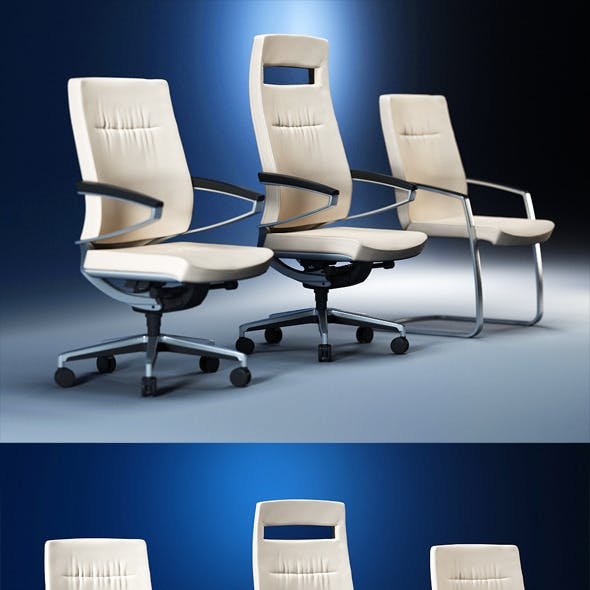 Quality 3dmodel of modern chairs Centeo. Kloeber