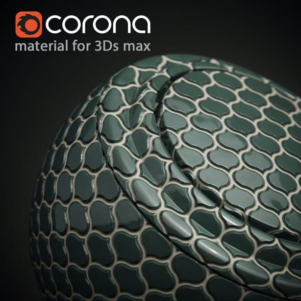 3Ds max Mosaic Tile Material. Corona render