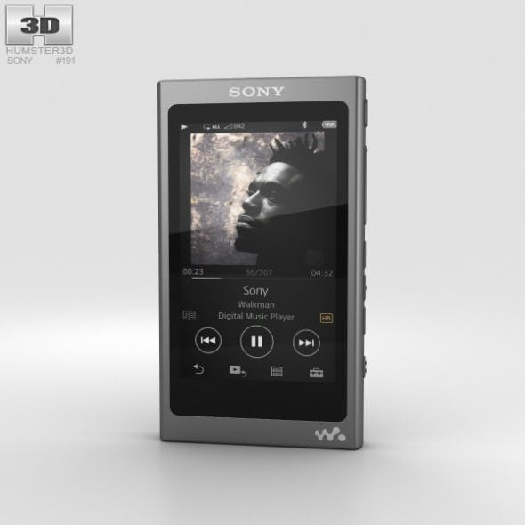Sony NW-A35 Black - 3DOcean Item for Sale