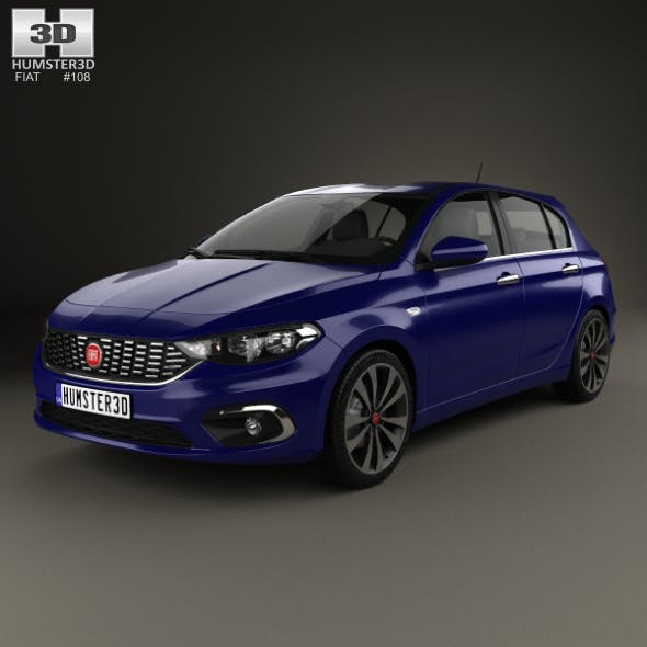 Fiat Tipo hatchback 2017 - 3DOcean Item for Sale