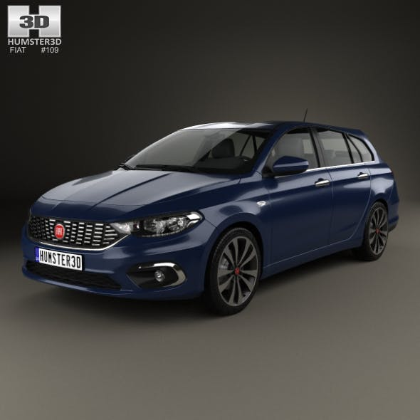 Fiat Tipo station wagon 2017 - 3DOcean Item for Sale