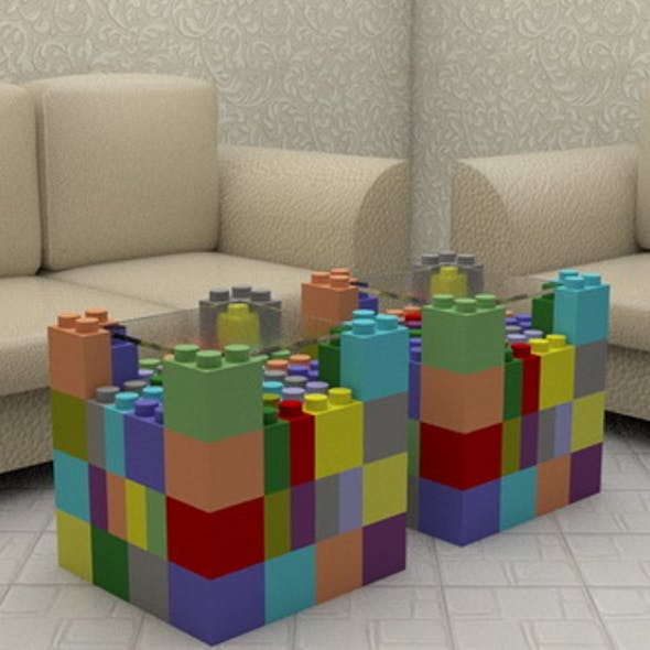 Cubes Tea - Coffee Table with Couch