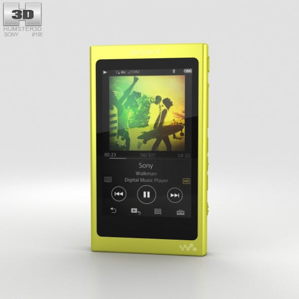 Sony NW-A35 Yellow - 3DOcean Item for Sale