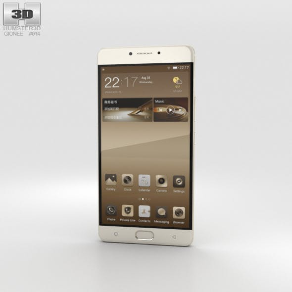 Gionee M6 Champagne Gold - 3DOcean Item for Sale