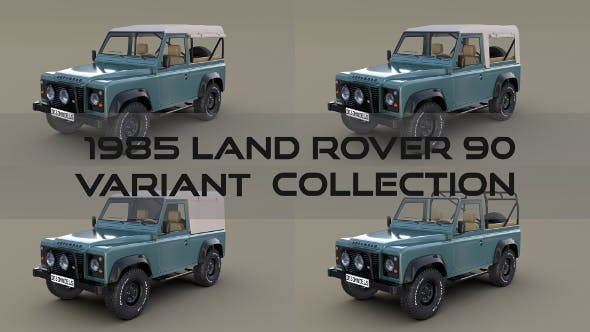 1985 Land Rover Defender 90 Pack - 3DOcean Item for Sale