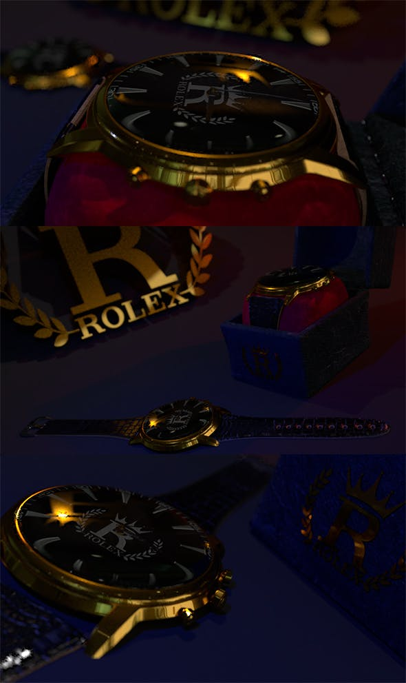 Rolex watch | 3D watch | Rolex | Watch | 3D model | Skin | Accessory | Fashion | Low Poly - 3DOcean Item for Sale