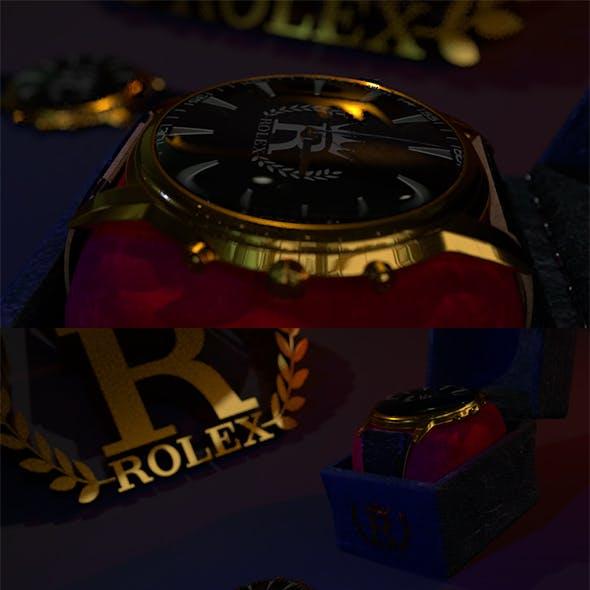 Rolex watch | 3D watch | Rolex | Watch | 3D model | Skin | Accessory | Fashion | Low Poly