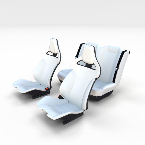 Tesla Roadster Seats - 3DOcean Item for Sale