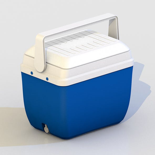 PLASTIC EXCURSION COOLER FOOD DRINKS - 3DOcean Item for Sale