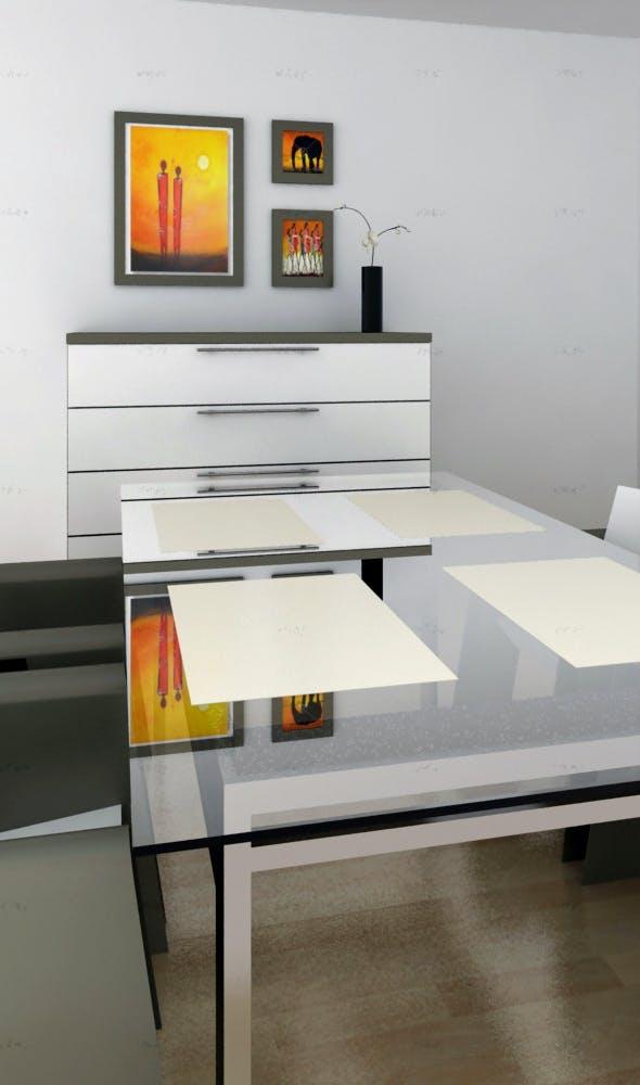 dinnig set - 3DOcean Item for Sale