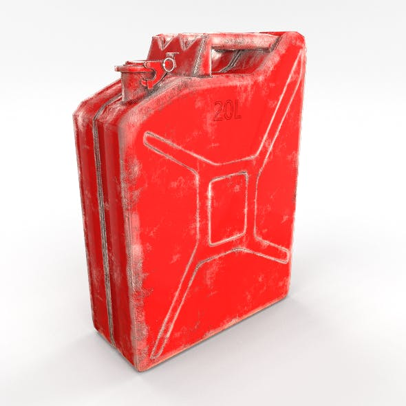 Jerry Can Low Poly 2 Worn PBR - 3DOcean Item for Sale