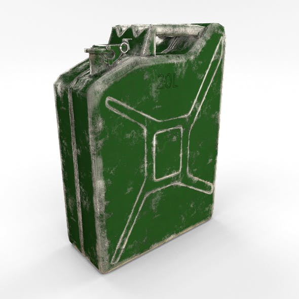 Jerry Can Low Poly Worn PBR - 3DOcean Item for Sale