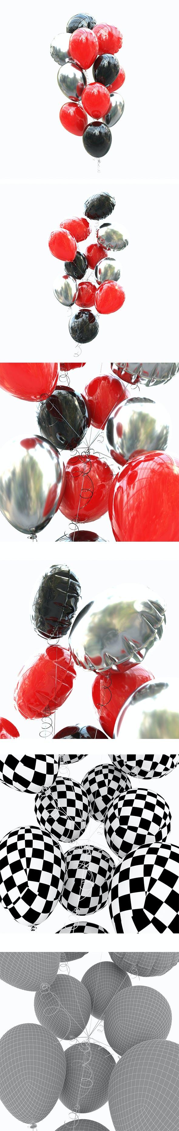 Set helium balloons - 3DOcean Item for Sale