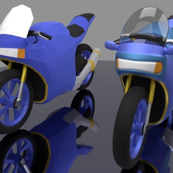 Cartoon sport bike with base mash