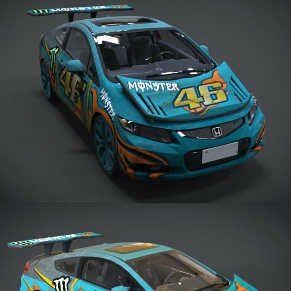 Honda Civic Racing Kit Monster