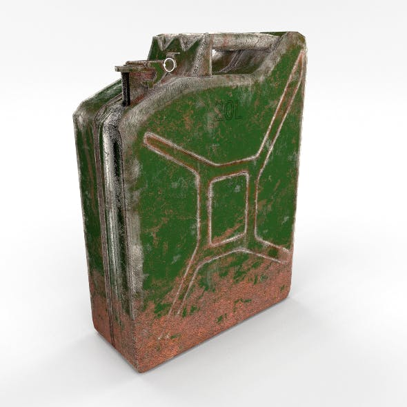 Jerry Can Low Poly Weathered PBR