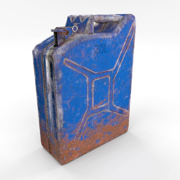 Jerry Can Low Poly Weathered 3 PBR - 3DOcean Item for Sale
