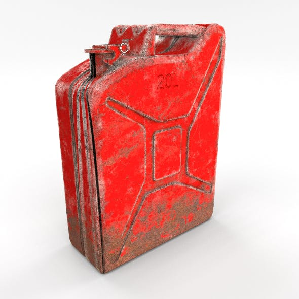 Jerry Can Weathered 2 PBR - 3DOcean Item for Sale