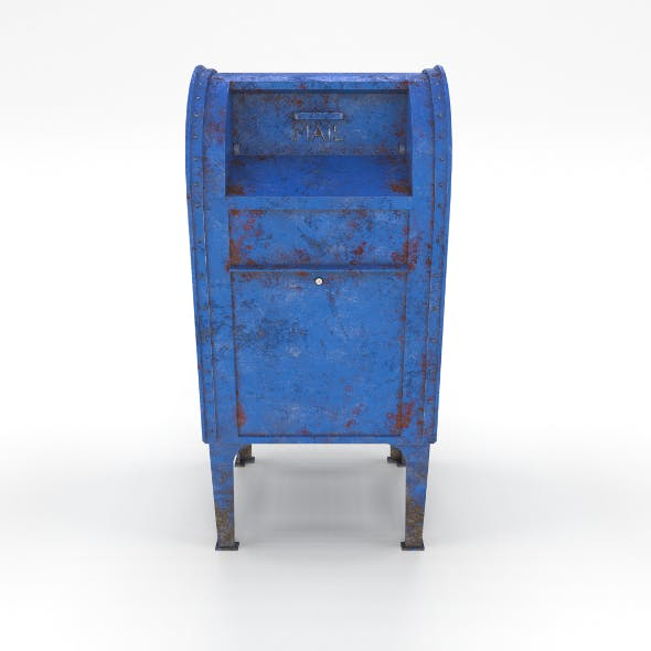 Mailbox Lowpoly Weathered PBR - 3DOcean Item for Sale