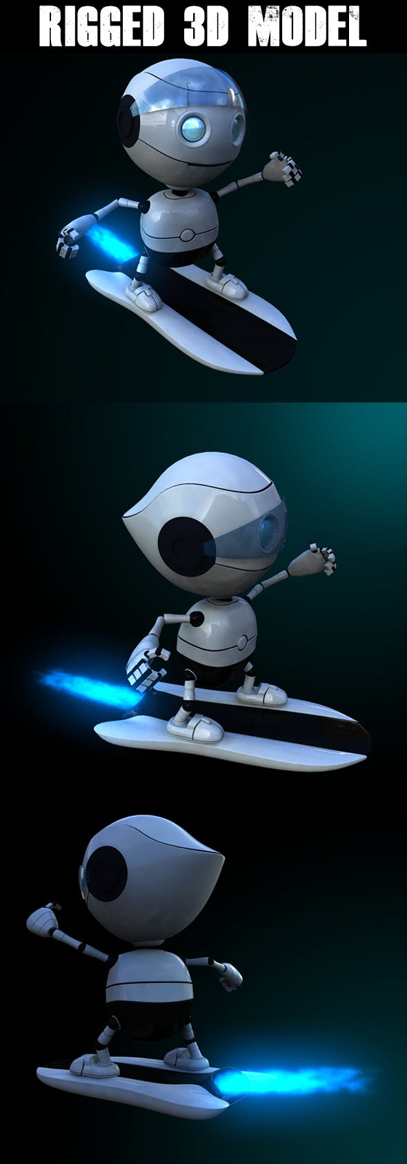 Rigged Robot Model - 3DOcean Item for Sale