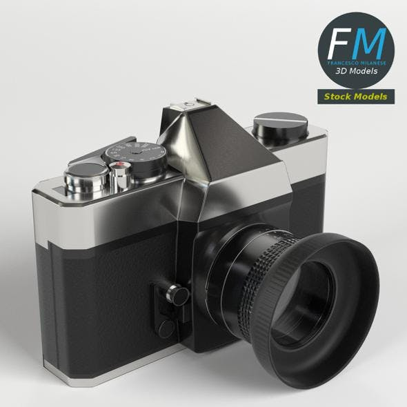Reflex Camera - 3DOcean Item for Sale