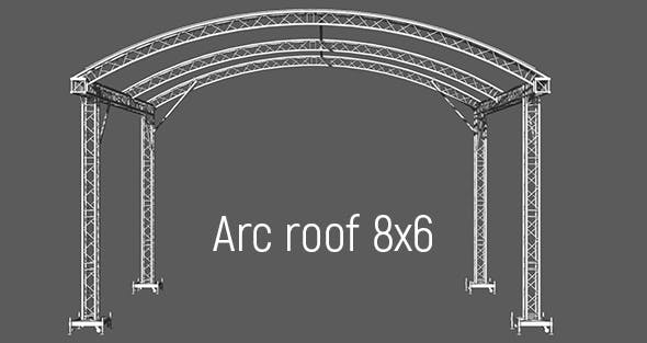 Prolyte Arc roof 8x6m - 3DOcean Item for Sale