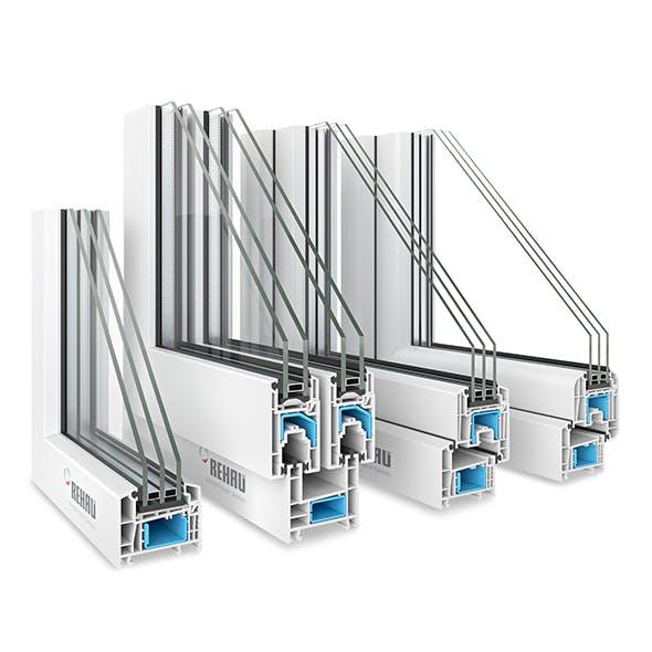 4 Rehau Window profiles - 3DOcean Item for Sale