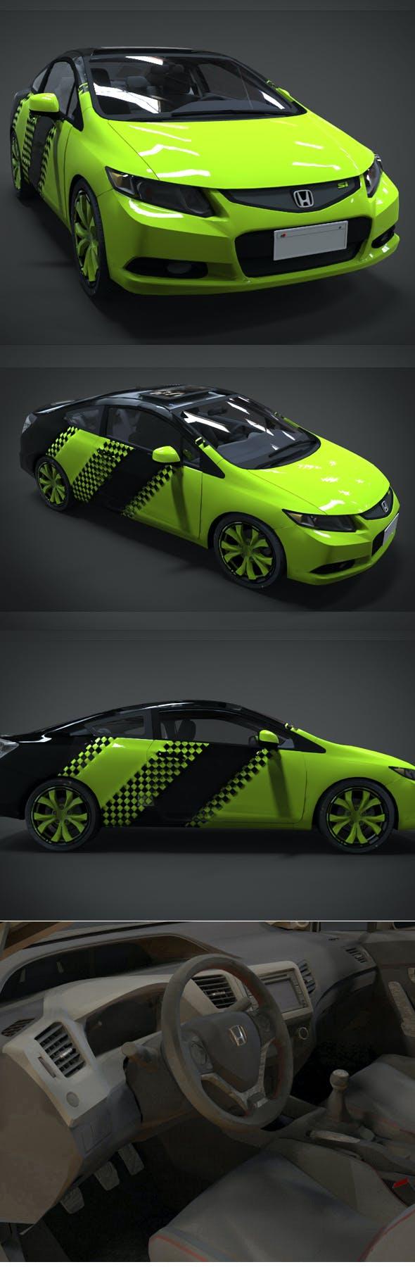 Honda Civic STABILLO RACING Kit - 3DOcean Item for Sale