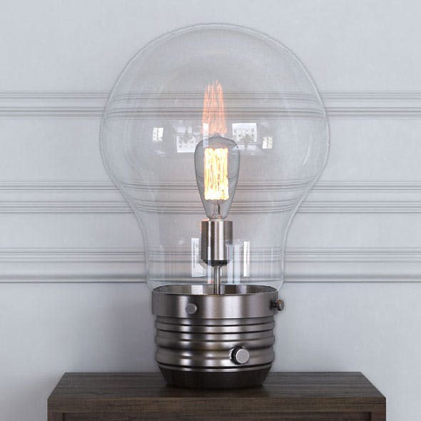 "Edison 18 ""Table Lamp with Globe Shade"