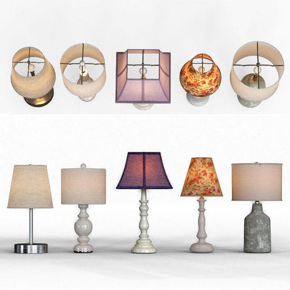 table lamp set - 3DOcean Item for Sale