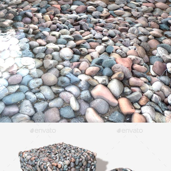 Purple Stones Seamless Texture