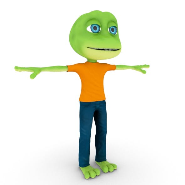 Frog 3D Character - 3DOcean Item for Sale