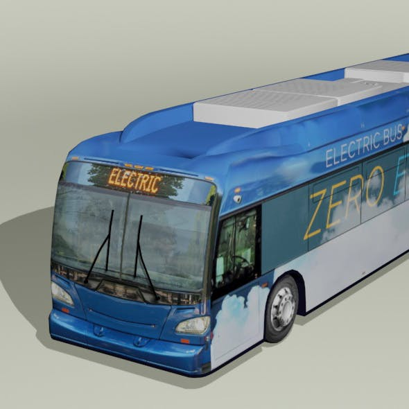 Modern Xcelsior electric bus low polygon