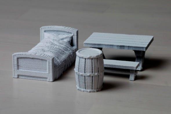 Basic medieval home furnishing - 3DOcean Item for Sale