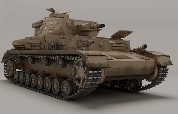 Panzerkampfwagen IV Ausf E without additional frontal armor - 3DOcean Item for Sale