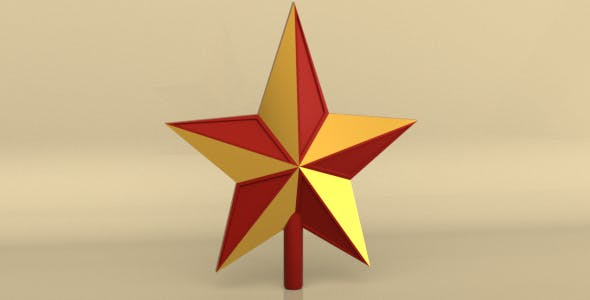 Christmas Star 3D Model - 3DOcean Item for Sale
