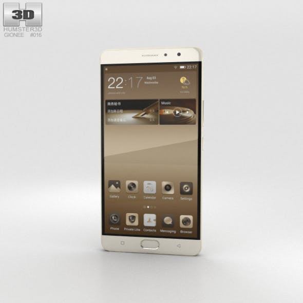 Gionee M6 Plus Champagne Gold - 3DOcean Item for Sale