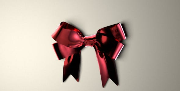 Ribbon Bow 3D Model - 3DOcean Item for Sale
