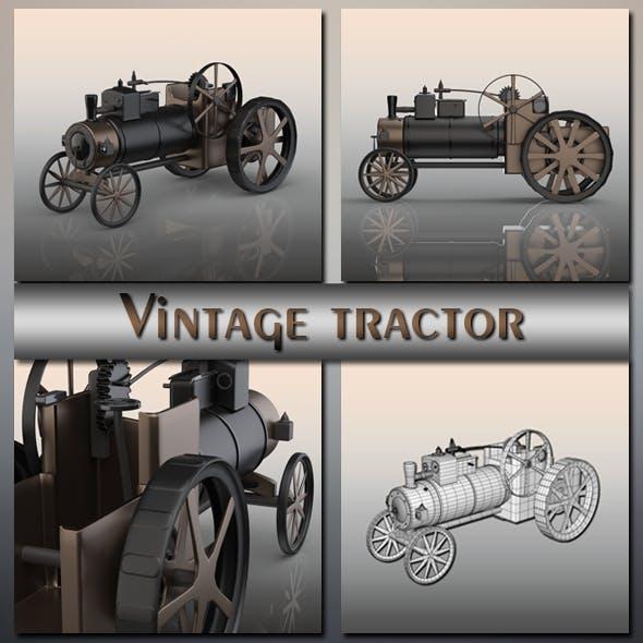 Vintage tractor - 3DOcean Item for Sale