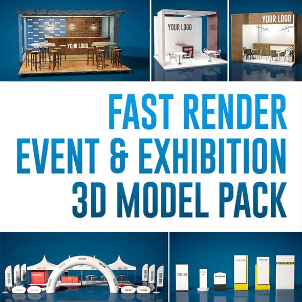 Event and Exhibition 3d Model Pack - 3DOcean Item for Sale
