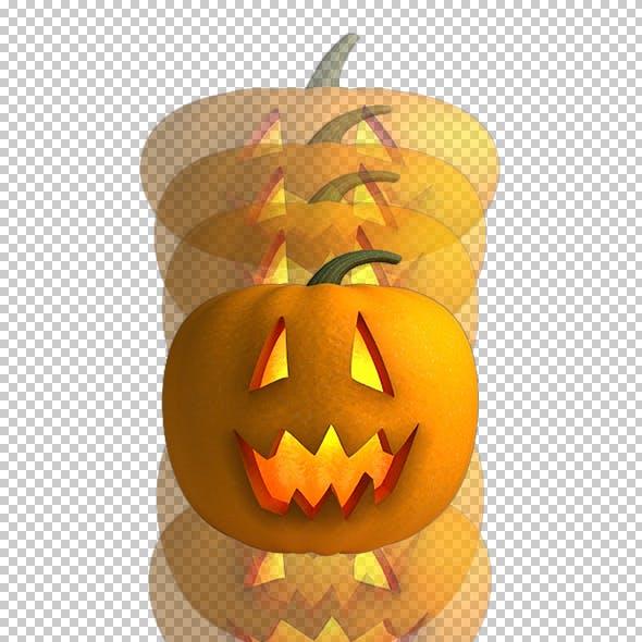 Halloween Pumpkin - Bouncing Animation