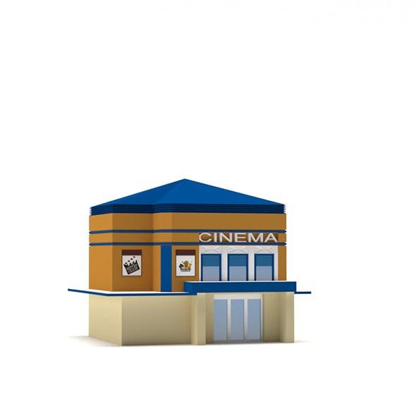 Low Poly Cinema Building - 3DOcean Item for Sale