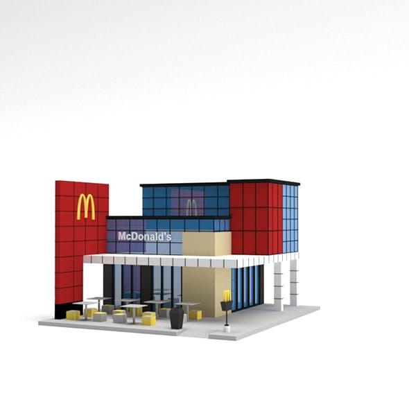 Low Poly McDonald's Building - 3DOcean Item for Sale