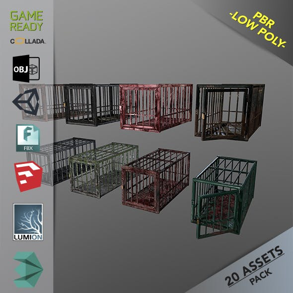 Animal Cage - 3DOcean Item for Sale