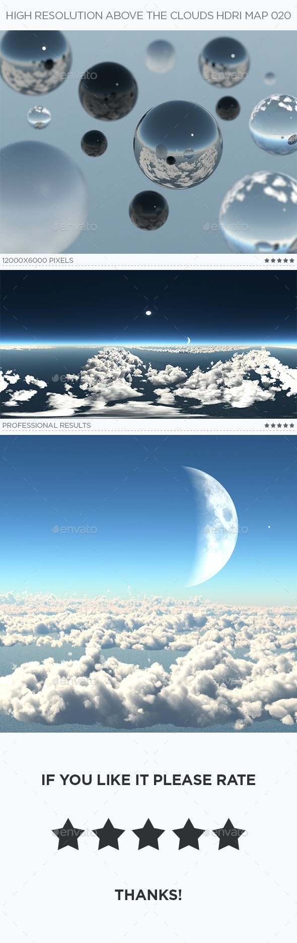 High Resolution Above The Clouds HDRi Map 020 - 3DOcean Item for Sale